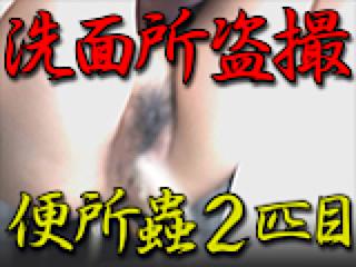 エロ動画:洗面所盗SATU BEN所蟲リターンズ2匹目:パイパンマンコ